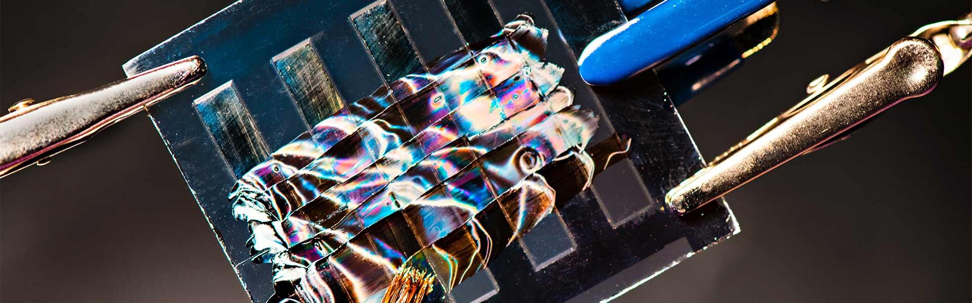 Macro shot of a solar panel